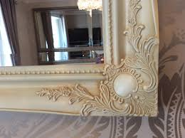 cream shabby chic mirror insured in transit bevelled or plain