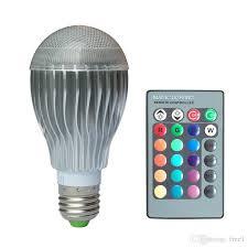 led rgb bulb e27 e14 gu10 gu5 3 10w remote control color changing
