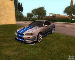 nissan skyline fast and furious 7 nissan skyline r 34 gt r m spec nur for gta san andreas