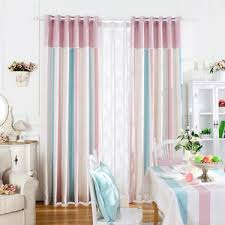 Navy And Pink Curtains Navy Blue Geometric Linen Kids Room Nursery Striped Color Block