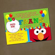 elmo birthday invitations with photo alanarasbach com