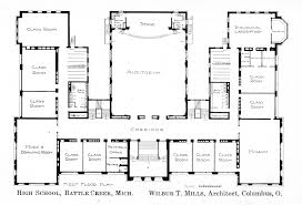 second floor plan knowlton school digital library battle creekhs firstfloorplan jpg