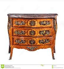 classic original vintage wooden chest bureau commode stock