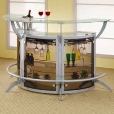 Home Bar Table Glass Bars For Home Foter