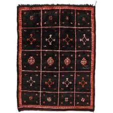 Black Runner Rug Moroccan Tuareg Vintage Black Runner Rug For Sale At 1stdibs