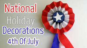 Holiday Decorations Diy Crafts 4th Of July Rosette National Holiday Decorations