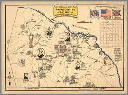 County Map Of North Carolina Historical Map Rowan County In The State Of North Carolina