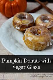 pumpkin donuts with sugar glaze recipe donuts pumpkins and sweet