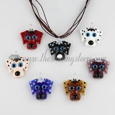 glass necklace pendants wholesale images Dog lampwork murano glass necklace pendant jewellery wholesale jpg