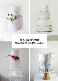 picture of 27 chic and luxurious marble wedding cakes