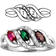 mothers rings white gold serenity s ring with 2 simulated birthstones in 10kt white gold