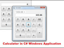 Small Desktop Calculator For Windows 8 How To Make A Calculator In C Windows Form Application Part 1