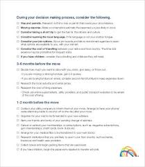 moving checklist template 7 free pdf documents download free