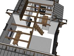 Weekend Cabin Plans Loft Stairs Alternating Tread Space Saving Stairs For Loft Ana