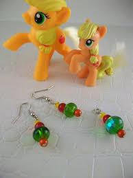 my pony earrings applejack earrings my pony friendship is magic