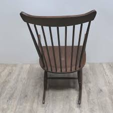 mid century scandinavian wooden rocking chair