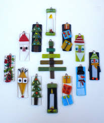 green santa claus fused glass christmas ornament by jj jacobs 3