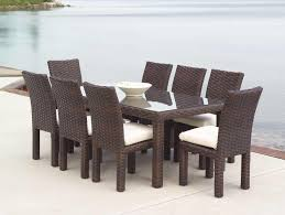 Wicker Dining Room Chairs Indoor Chair Belham Living Bella All Weather Wicker 7 Piece Patio Dining