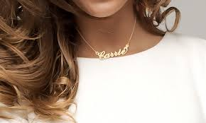 Custom Necklace Name Custom Name Necklaces Jewellshouse Groupon