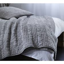 Ruched Bedding Ruffle Ruched Grey Bedspread Luxury Bedspread