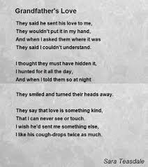 grandfather s grandfather s love poem by sara teasdale poem hunter