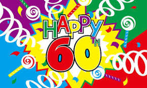60 years birthday happy 60th birthday flag 5 x 3 60 years party celebration time