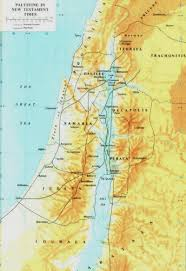 Map Of Palestine Gospel Of John New Testament Palestine