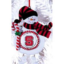 amazon com nc state university jolly snowman christmas ornament