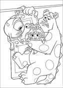 sulley mike boo coloring free printable coloring pages