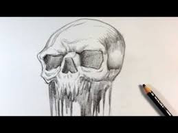 drawing a melted skull tattoo design skull drawings youtube