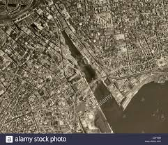 Aerial Map Of Chicago by Historical Aerial Map View Above Chicago Illinois 1952 Stock Photo