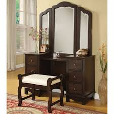 infini furnishings makeup vanity set with mirror walmart com