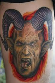 scary asian devil face tattoo design photos pictures and