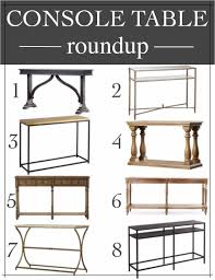 Entryway Console Table by Entryway Design Plans U0026 Console Table Round Up Remington Avenue