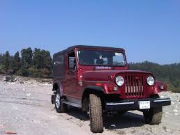 punjabi open jeep my li u0027l red mahindra thar with some practical modifications team bhp