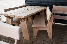 Handmade Wooden Outdoor Furniture by Garden Furniture Handmade Wooden Natural Pine 6ft Table 2 X 4ft