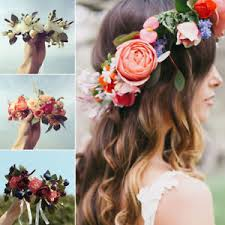 flower hair band party crown flower hairband floral headdress wedding