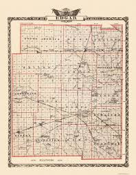 Illinois Railroad Map by Old County Map Edgar Illinois Landowner 1876
