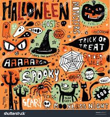 halloween doodle elements stock vector 35066131 shutterstock