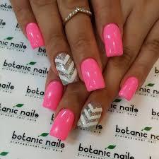 pink u0026 silver nails cool ideas pinterest silver nail nail
