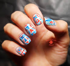 indian ocean polish tribal print nails inspired by wondrously