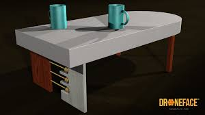 art deco coffee table droneface