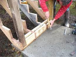 installing deck stair railing posts installing deck stair railing