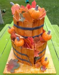thanksgiving wooden barrel cake grated nutmeg