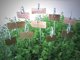 Vegetable Garden Labels by 19 Best Garden Tags Images On Pinterest Plant Markers Copper