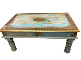 useful antique style coffee table on classic home interior design