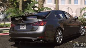 lexus es 350 rear bumper replacement lexus gs 350 add on replace tuning template gta5 mods com