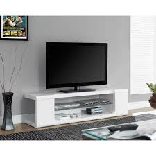 White Glass Computer Desk by Monarch Tv Stand High Glossy White With Tempered Glass For