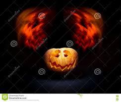 halloween photo backdrop halloween scary face pumpkin on the black backdrop stock photo