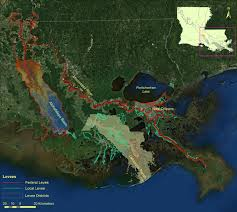 louisiana elevation map levee crest elevation profiles derived from airborne lidar based
